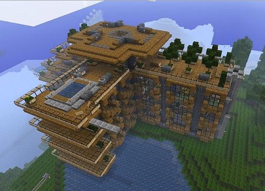 Самые красивые дома в minecraft